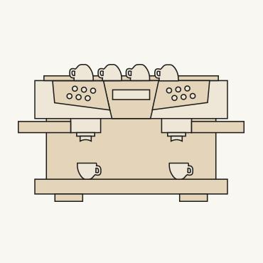 Gastromaschinen bieten Kaffeehochgenuss.