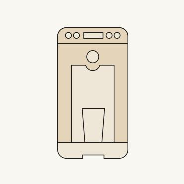 Zeichnung eines Wasserspenders