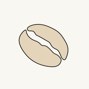 Zeichnung einer Kaffeebohne