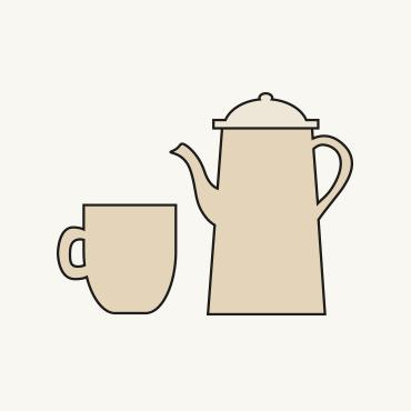 Zeichnung einer Kaffee-Service