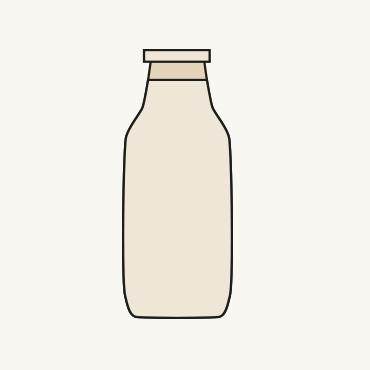 Zeichnung einer Milchflasche
